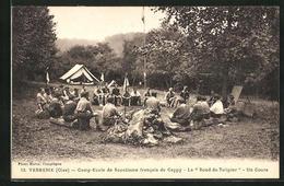 CPA Verberie, Camp-Ecole De Scoutisme Francais De Cappy, Le Rond Du Tulipier, Un Cours - Verberie