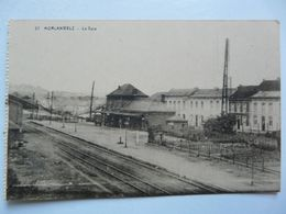CPA  BELGIQUE - MORLANWELZ : La Gare - Andere