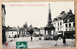X76032 GOURNAY-en-BRAY La FONTAINE Pharmacie Au Gagne Petit PLACE NATIONALE 1910s à BENOIST Faubourg La Grappe Chartres - Gournay-en-Bray