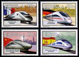 République Démocratique Du Congo - 2697/2700 - Trains à Grande Vitesse - 2012 - MNH - Democratic Republic Of Congo (1997 - ...)