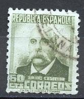 Espagne - Spain - Spanien 1931-34 Y&T N°508 - Michel N°624 (o) - 60c E Castelar - 1931-Aujourd'hui: II. République - ....Juan Carlos I