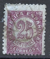 Espagne - Spain - Spanien 1938-39 Y&T N°616A - Michel N°700 (o) - 25c Timbre Pour Imprimé - 1931-Aujourd'hui: II. République - ....Juan Carlos I