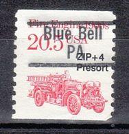USA Precancel Vorausentwertung Preo, Locals Pennsylvania, Blue Bell 839.5 - Voorafgestempeld