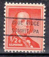 USA Precancel Vorausentwertung Preo, Bureau Pennsylvania, Blue Ridge Summit 847 - Voorafgestempeld