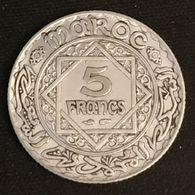 MAROC - MOROCCO - 5 FRANCS 1934 ( 1352 ) - Argent - Silver - Mohammed V - KM 37 - ( EMPIRE CHERIFIEN ) - Marruecos