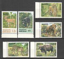 QQ765 1977 BANGLADESH AFRICAN FAUNA WILD ANIMALS #94-99 SET MNH - Stamps