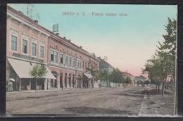 "Ungarn 1908 Colorkarte "" Brod N.S - Franje Josipa Ulica "" Entwertet L1 BROOD Und Bahnpost-o 6132 - Ungarn"