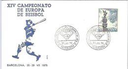 POSTMARKET 1975  BARCELONA - Baseball