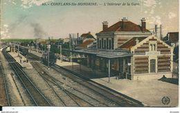 78  CONFLANS  Sainte  HONORINE -   L' INTERIEUR DE LA  GARE , ( état) - Conflans Saint Honorine