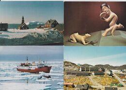Groenland Greenland Gronland - Lot De 24 Cartes Postales Polar Card Thule Saqqaq Qajaq Chien Kalaallit Nunaat Type... - Greenland