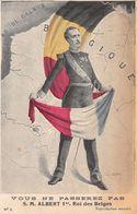 Aux Allemands: Vous Ne Passerez Pas !  Albert 1er Roi Des Belges - Guerre 1914-18 - Carte De Géographie - Otros