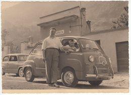 AUTO CAR VOITURE FIAT 600 MULTIPLA TARGA TORINO - FOTO ORIGINALE ANNI '60 Cm 18x12 - Cars