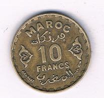 10 FRANCS 1371 AH MAROKKO 5954/ - Marocco