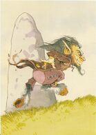 ~  JP  ~  Illustration    ~   Stevan   ROUDAUT   ~   Le Diablotin    ~ - Künstlerkarten