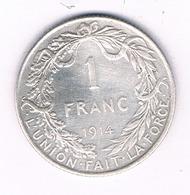 1 FRANC 1914  FR BELGIE /5959/ - 1909-1934: Albert I