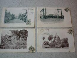 LAOS .  LOT DE 4 CPA  PRECURSEURS VOYAGEES 1910 - Laos