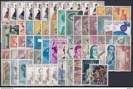 ESPAÑA 1967 Nº 1767/1838 AÑO NUEVO COMPLETO CON TRAJES,72 SELLOS - Espagne