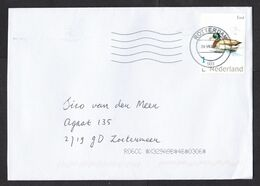 Netherlands: Cover, 2020, 1 Stamp, Duck, Bird, Animal (traces Of Use) - Periodo 2013-... (Willem-Alexander)