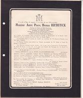 AALST SCHAERBEEK BIEBUYCK André  1874-1945 Ancien Prieur Fraternité De Bruxelles  SOENEN Le JEUNE D'ALLEGEERSHECQUE - Non Classificati