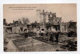 - CPA SAINT-LEGER-EN-YVELINES (78) - Villa Des Glycines, Rue De Chartres (avec Personnages) - Photo David - - St. Leger En Yvelines