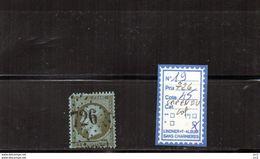 FRANCE - N°19 (GC726 Capendu)Lot - Dent Courte - 1849-1876: Période Classique