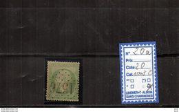 NAPOLEON III - N°20a (GC1576) - Fraize Doubs (1dent Courte) - 1849-1876: Période Classique