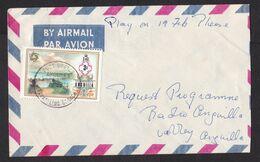 Anguilla: Domestic Cover, 1974, 1 Stamp, Landscape, Rare Cancel Travelling Branch, Mobile Post Office (traces Of Use) - Anguilla (1968-...)