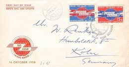 NEDERLANDS ANTILLEN - 1958 FDC LANDS RADIO //ak233 - Niederländische Antillen, Curaçao, Aruba