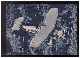 DT- Reich (009020) Propagandakarte Nahaufklärer Hs126 Beim Tiefflug über Einem Wald In Dem Feindliche, Ungebraucht - Germany