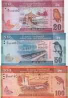 Sri Lanka : Série De 3 Billets 2010 : 20 + 50 + 100 Rupees (état : TB-TB-Moyen) - Sri Lanka