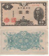 JAPAN. 1 Yen    P85       (Sontoku Ninomiya  ND. 1946). UNC - Japon