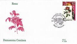 B01-173 BELG.1997 2708 FDC1229 9230 Wetteren De Roos  La Rose 2€. - Maximum Cards