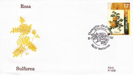 B01-173 BELG.1997 2709 FDC1230 9230 Wetteren De Roos  La Rose 2€ - Maximum Cards