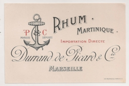 ETIQUETTE RHUM MARTINIQUE  DURRAND DE PICARD & Cie /   MARSEILLE  C904 - Rhum