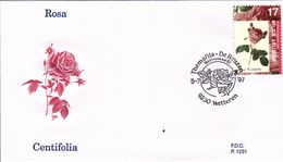 B01-173 BELG.1997 2710 FDC1231 9230 Wetteren De Roos  La Rose 2€ - Maximum Cards