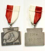Médaille De Marche_148_Belgique, Melle, Wandeling, 1977, 21 Km, De Bloeiende Azalease - Bélgica