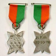 Médaille De Marche_155_Belgique, Wetteren, Wandeling, 1976, 21 Km - Bélgica