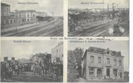 GRUSS Aus HERBERSTHAL-Bahnhof Herbersthal - Bahnhof Welkenraedt - Neutrale Strasse -Gelchäffshaus J. Schmitz-Bertram - Lontzen