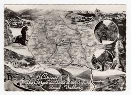 DF / CARTE GÉOGRAPHIQUE ILLUSTRÉE DU CIRCUIT DES GORGES DU CIANS ET DE DALUIS - BEUIL - VALBERG (ALPES-MARITIMES) - Carte Geografiche