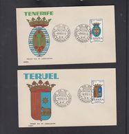 SPAIN, FDC - TENERIFE, TERUEL ** - Covers