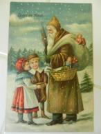 CPA   Gauffrée  PERE NOEL - Santa Claus