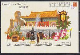 ST VINCENT & THE GRENADINES 1997 HONG KONG '97 / PASSAGE TO DESTINY MIN/SHT MNH - St.Vincent Y Las Granadinas