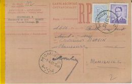 1490. NAMUR F 2 F  Ontvangkaart/carte Récépissé - Type Marchand 5fr. - Documents Of Postal Services