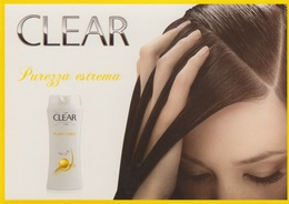 "PUBBLICITA' RARE ADVERTISING - CARTOLINA PROMOCARD - ""CLEAR"" N°8631 - Advertising"