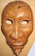 MASCHERA ETNICA TERRACOTTA  21 X 12 CM. MASQUE MASK - Art Africain