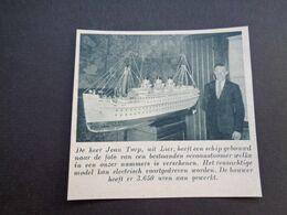 """Origineel Knipsel ( 5424 ) Uit Tijdschrift """" De Stad """"  1937 :  Lier  Lierre - Vieux Papiers"""