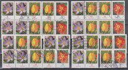 Deutschland 2007: Blumen Zusammendruck-Kleinbogen + Diverse Zusammendrucke, Mi 2471, 2480, 2484 Gestempelt - Zusammendrucke