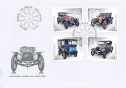 FDC, 1556-1559,3. September 2015  - Sondermarken Schweizer Automobile ! Timbres Speciaux Automobiles Suisses - FDC