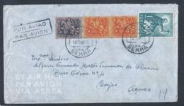 Loureira, Santa Catarina Da Serra, Leiria. Lages, Açores. S. Francisco Xavier. Obliteração De 1953. - Poste Aérienne