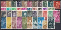 ESPAÑA 1955 Nº 1143/1184 AÑO COMPLETO USADO 42 SELLOS - Full Years